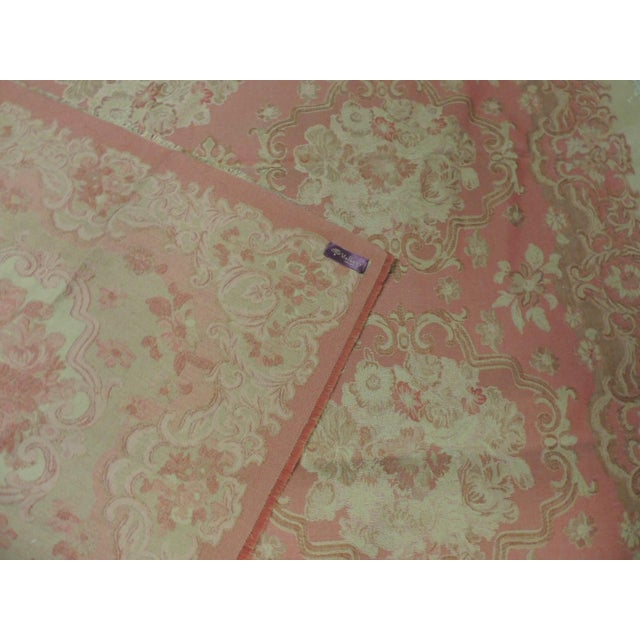 Mulberry Woven Dusty Rose Floral Throw For Sale In Miami - Image 6 of 7
