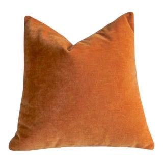 Apricot Velvet Pillow Cover 18x18 For Sale