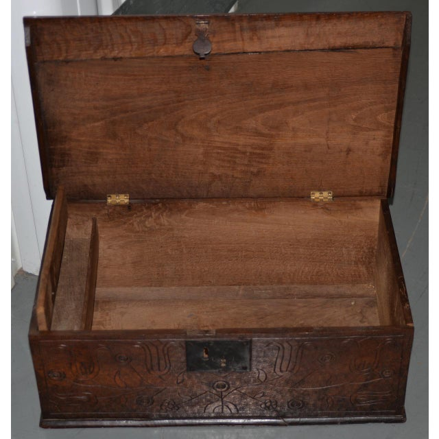 18th Century Carved Walnut Bible Box C.1763 For Sale - Image 10 of 11