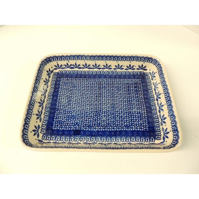 Vintage Blue & White Ironstone Serving Platter - Image 2 of 4