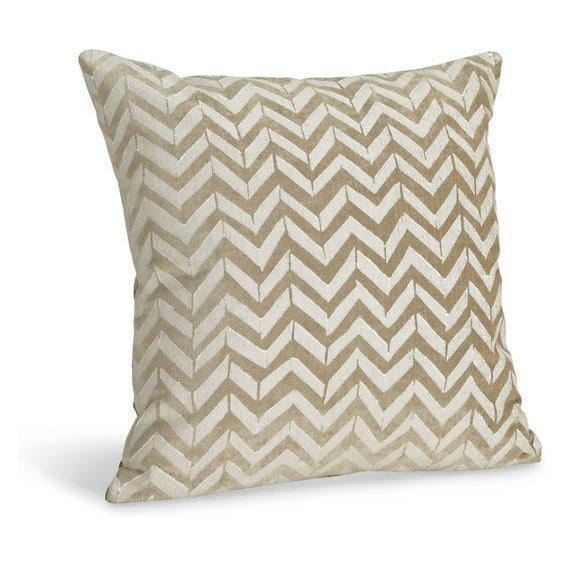 Room & Board White Herringbone Pillows - A Pair - Image 3 of 4