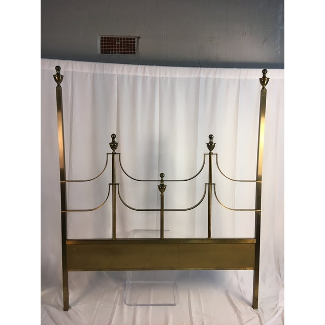 "This brass headboard is in the manner of a Master Craft. It is 61"" wide and 72 1/2"" tall. Beautiful and heavy, it is well..."