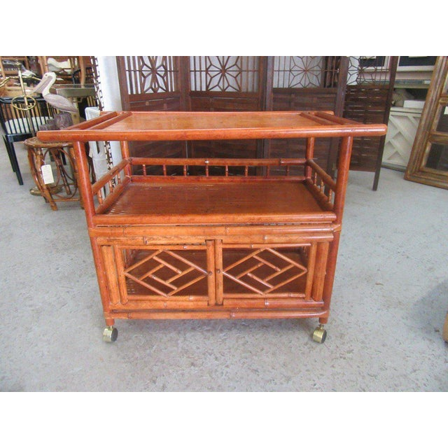 Tortoise Shell Bamboo Cart - Image 8 of 8