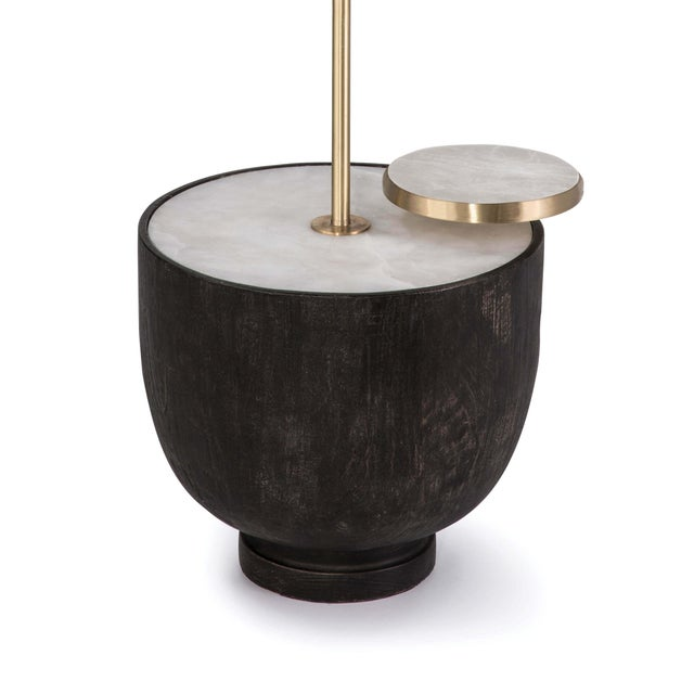 Theo Floor Lamp in Ebony For Sale - Image 4 of 7