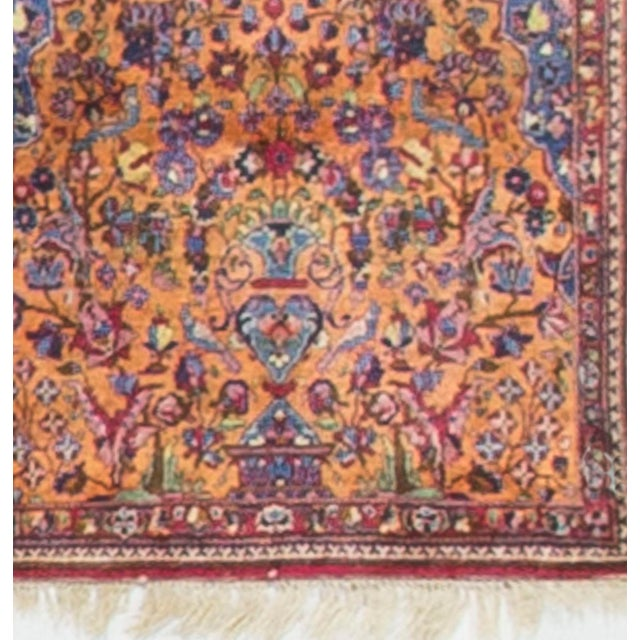 Traditional Vintage 1940s Persian Silk Tabriz Rug - 2' X 3' For Sale - Image 3 of 4
