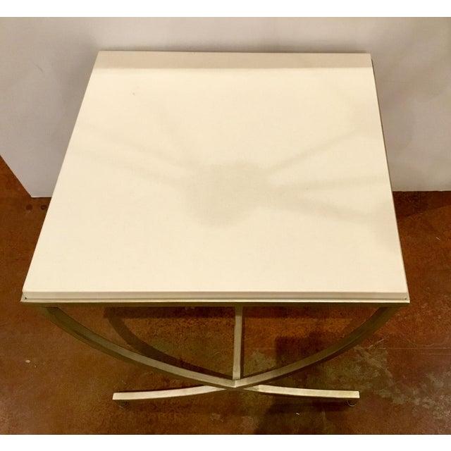 Fine Bernhardt Dunhaven White Stone Top End Table Theyellowbook Wood Chair Design Ideas Theyellowbookinfo