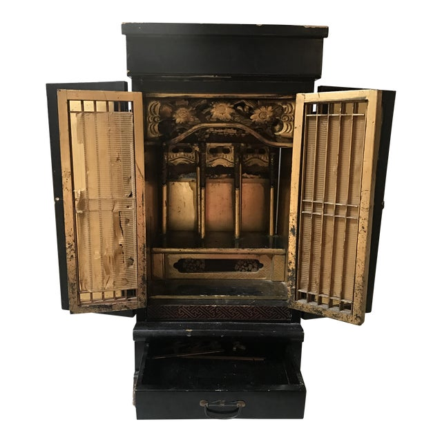 Antique Japanese Black Temple - Image 1 of 8