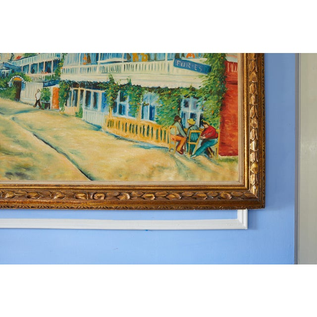 French Large Impressionist Oil Painting of a French Street Scene For Sale - Image 3 of 13