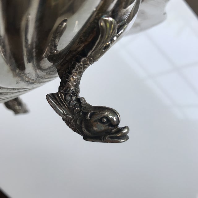 Silver 20th Century Regency Silverplate Dolphin Footed Scallop Shell Platter For Sale - Image 8 of 9