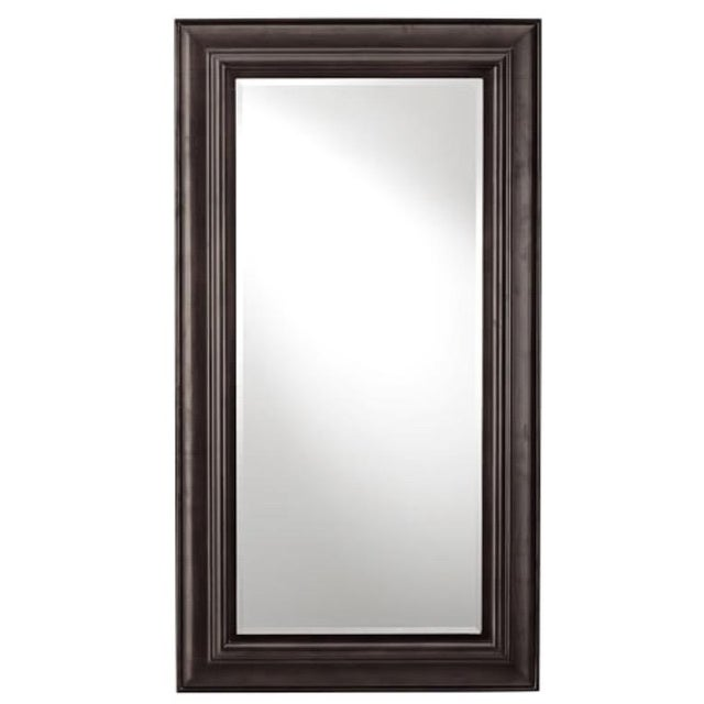 Pottery Barn Solano Dark Wood Beveled Glass Floor Mirror Chairish