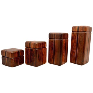 Don Shoemaker Set of Cocobolo Canister Boxes