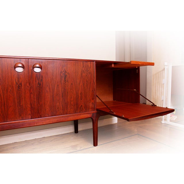 Danish Modern 1960's Mid Century Modern Rosewood Credenza For Sale - Image 3 of 5