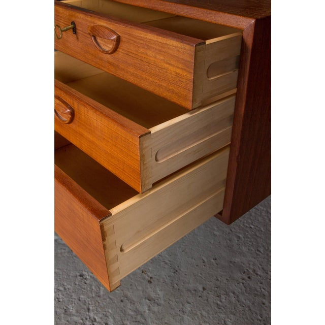 Danish Teak Desk With Floating Top by Kai Kristensen For Sale In Boston - Image 6 of 10