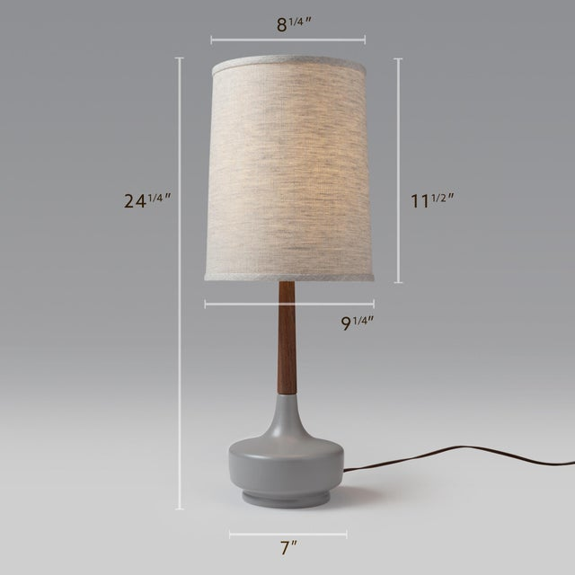 """Contemporary Danish Modern """"Brooke"""" Nantucket #8 Table Lamp For Sale - Image 3 of 3"""