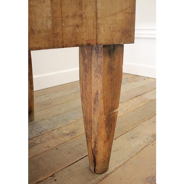 Maple 20th Century French European Butcher Block Table For Sale - Image 7 of 10