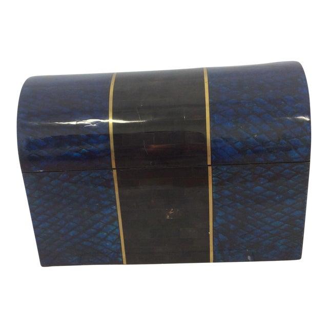 Maitland- Smith Lapis & Penshell Box - Image 1 of 11