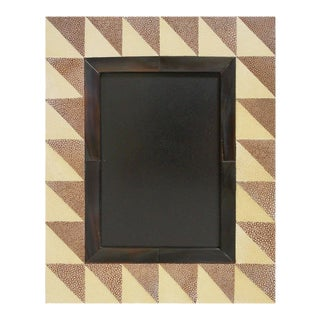 Fabio Ltd Shagreen and Horn Photo Frame For Sale
