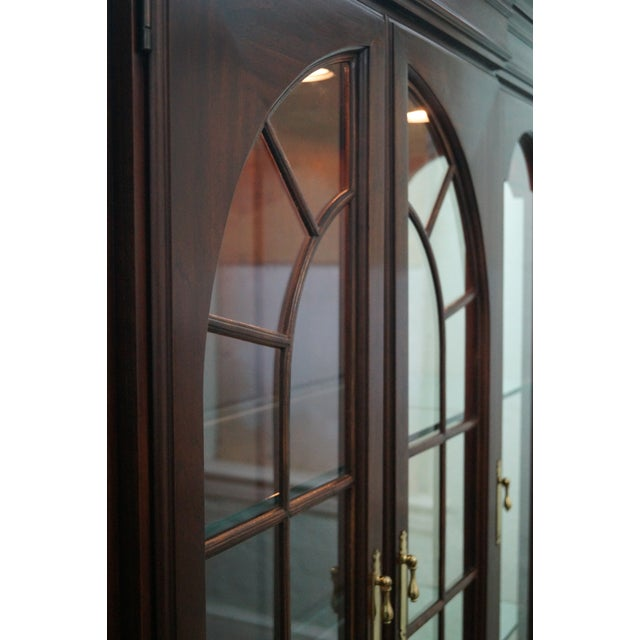 Harden Solid Cherry Chippendale China Cabinet - Image 10 of 10
