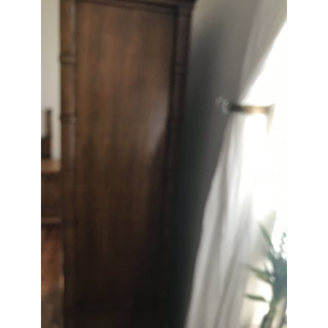 Traditional Vintage Thomasville Oak Armoire For Sale - Image 3 of 8