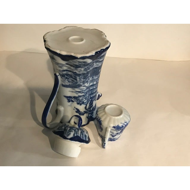 Chinoiserie Blue & White Teapot & Creamer - Image 6 of 8