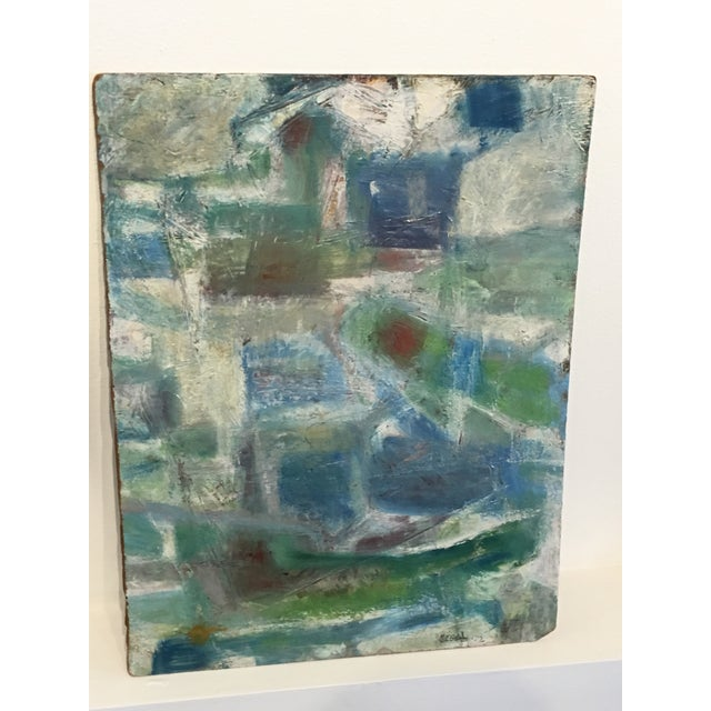 Segal Scandinavian Modern Abstract Painting - Image 2 of 9