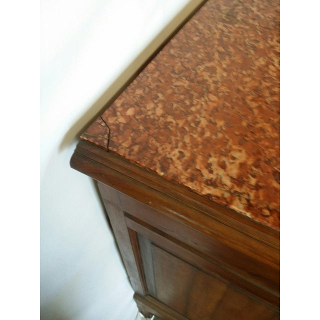 Napoleon III Louis XV Marble Top Chest of Drawers For Sale - Image 3 of 6