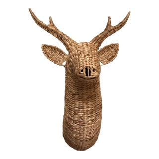 Large Faux Sea Grass Deer or Stag Head