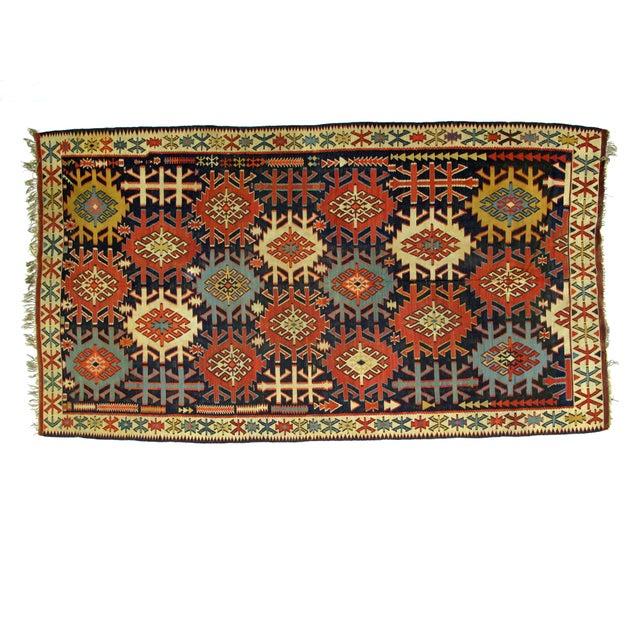 """Leon Banilivi Antique Caucasian Kilim - 6' X 10'8"""" - Image 1 of 5"""