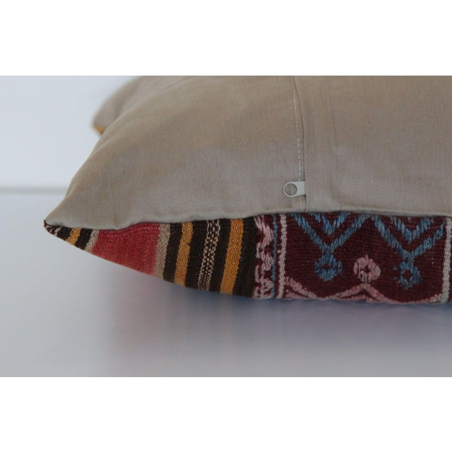 Turkish Wool Kilim Pillowcase For Sale - Image 5 of 6