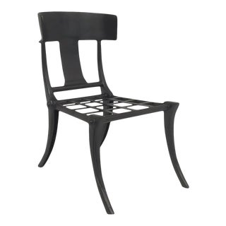 Modern Medellin Mid-Century Style Klismos Patio Dining Chair For Sale