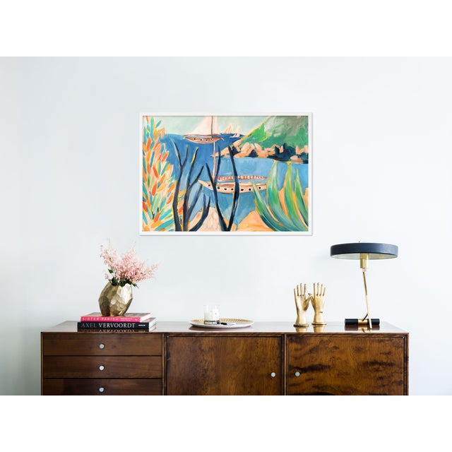 Contemporary Porto Ercole 2 by Lulu DK in White Framed Paper, Medium Art Print For Sale - Image 3 of 4