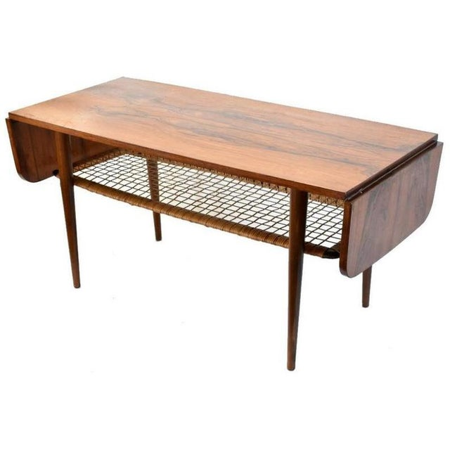 1960s Danish Rosewood Mid Century Modern Double Leaf Coffee Table For Sale In Seattle - Image 6 of 6