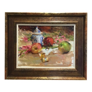 20th Century Still Life Oil Painting For Sale