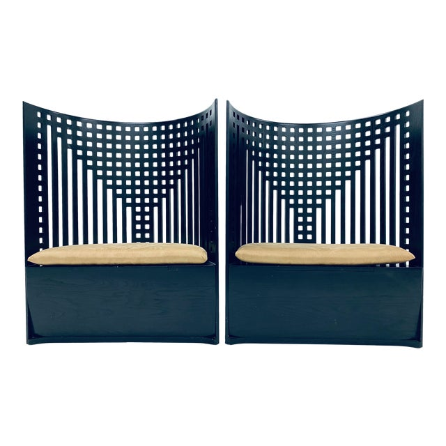 Charles Rennie Mackintosh Willow Chairs - a Pair For Sale