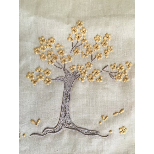 Vintage Embroidered Tree Tea Towel - Image 5 of 10