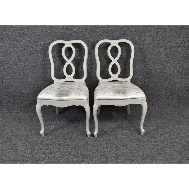 French Country Louis XV Style Dining Chairs- Set of 4 For Sale - Image 10 of 13