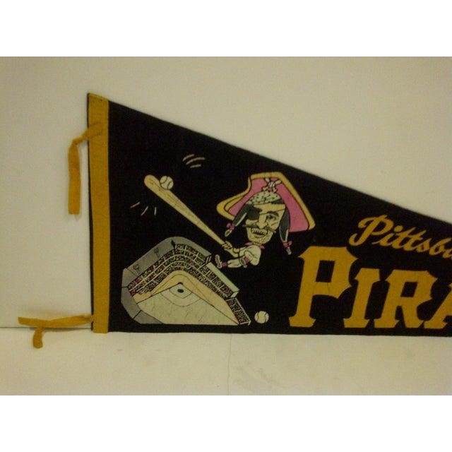 Mid-Century Modern Vintage Baseball Team Pennant - Mlb - Pittsburgh Pirates - Circa 1960 For Sale - Image 3 of 7