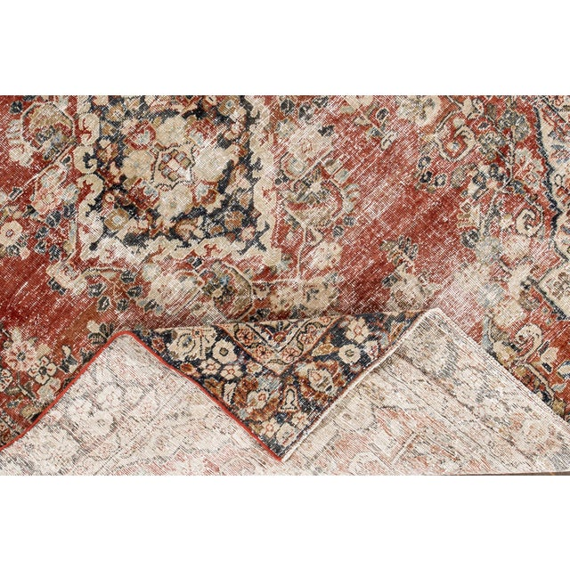 "Apadana-Antique Persian Distressed Rug, 6'6"" X 9'1"" For Sale - Image 4 of 10"
