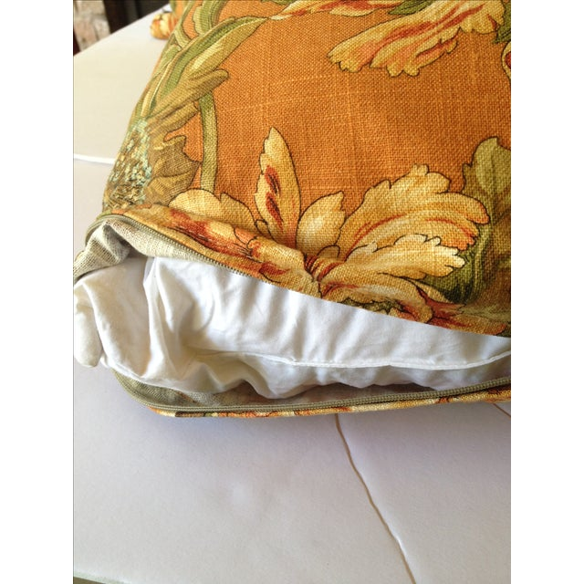 Newport Orange Floral Pillows - S/2 - Image 5 of 8