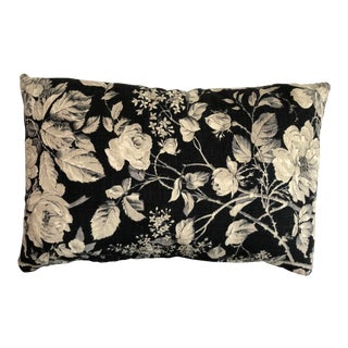 Ralph Lauren Floral Print Linen Lumbar Pillow Cover For Sale