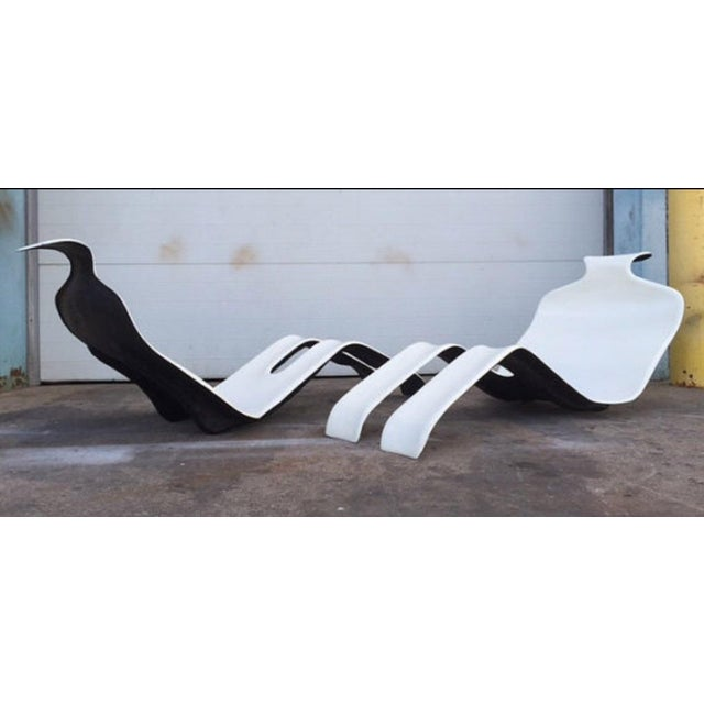 Olivier Mourgue Bouloum French Chaise Lounges- A Pair - Image 2 of 6