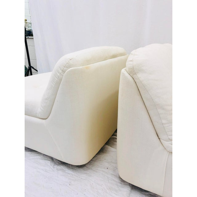 Wood Vintage Contemporary Modern Slipper Chairs For Sale - Image 7 of 13