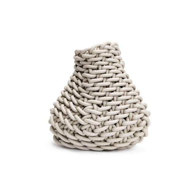 2020s Ecru Hand-Knitted Neoprene Barca C20 Basket, Neo For Sale - Image 5 of 5