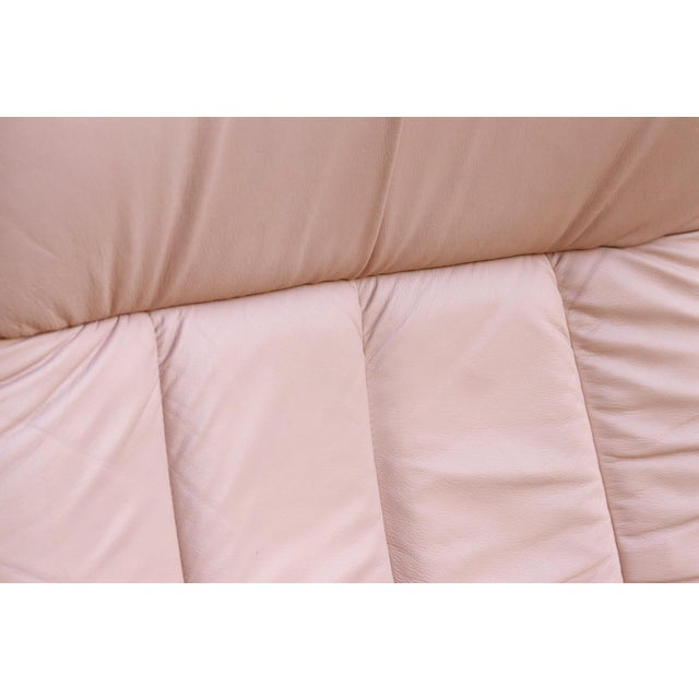 """Pink Ekornes Pink Leather """"Stressless"""" Recliner & Ottoman For Sale - Image 8 of 9"""