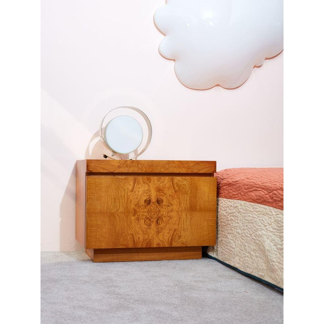 Lane Furniture Burlwood Nightstands by Milo Baughman for Lane - a Pair For Sale - Image 4 of 5