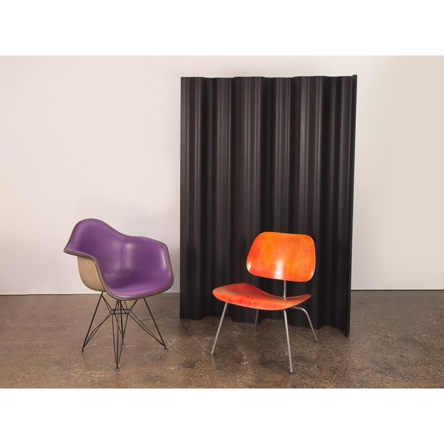 Charles & Ray Eames Ebonized Folding Wood Screen. Amazing sculptural room divider that undulates in space. The...