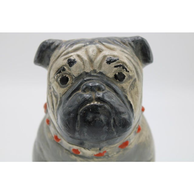 1930s Chalkware Carnival Prize Bulldog Statue For Sale - Image 12 of 12