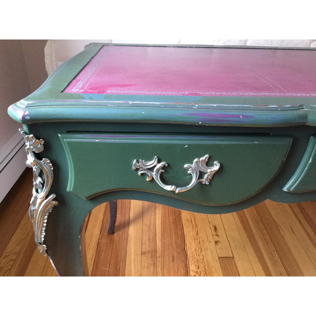 Louis XV Louis XV Style Painted Desk For Sale - Image 3 of 12