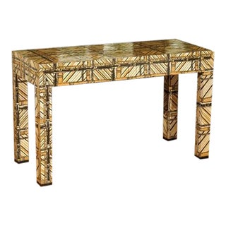 Spectacular Vintage Fabric Clad Desk or Console