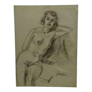 "Original Drawing Sketch ""Mandy"" by Tom Sturges Jr., 1950"